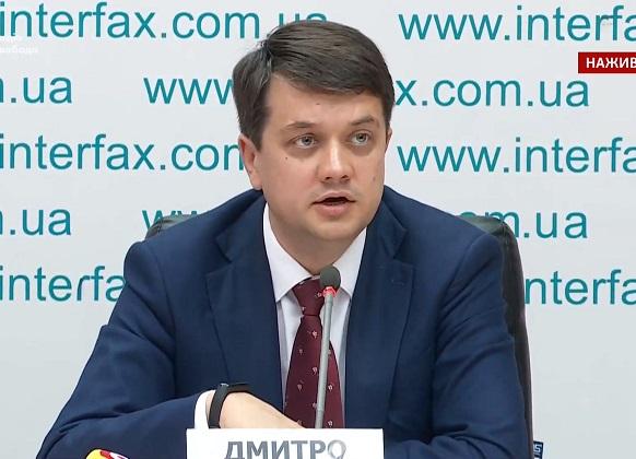 Радник президента України Разумков очолив партію «Слуга народу»